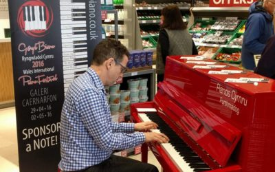 Piano Roadshow: New festival director hits the road with his red piano
